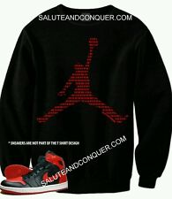JORDAN BRED 1s XL SWEATER ( Jumpman) more sizes available by SALUTE AND CONQUER