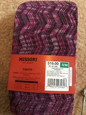 MISSONI FOR TARGET Women's Space Dye Space-dye Zig Zag Passione Tights NEW S/M