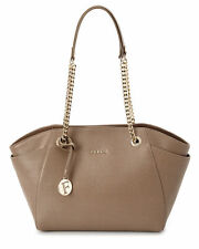 Furla Julia Daino Saffiano Leather Chain Medium Tote Bag