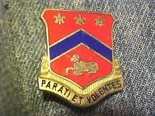 US Military 123rd Field Artillery DI Pin Clutchback Crest Medal Badge G383