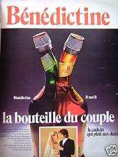 PUBLICITÉ BÉNÉDICTINE LA BOUTEILLE DU COUPLE - ADVERTISING
