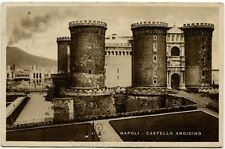 1952 Napoli Veduta Castello Angioino Italia al Lavoro - FP B/N VG