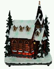 Brite Ideas Festive Christmas Fibre Optic Village Church Scene 28 cm Lights Up