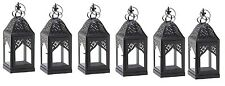 "Small Black Crown Metal Candle Lantern 14"" (Set of 6) Wedding Supplies 10015362"