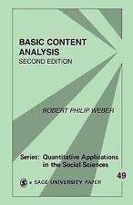 Basic Content Analysis (Quantitative Applications in the Social Sciences), Weber