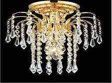 "Palace Lexington 11""  Crystal Chandelier Flush Mount Light  Gold Ceiling Light"