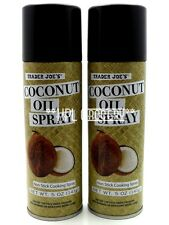 Trader Joe's Organic Coconut Oil Spray (x2 Cans) 10 OZ Total - NON-STICK Cooking
