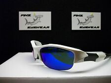 NEW FINZ POLARIZED SPORT SUNGLASSES WHITE-BLACK / BLUE MIRROR.....AWESOME