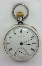 Coin Silver AMERICAN WALTHAM Pocket watch c.1885 size 15* EXLNT* SERVICED
