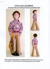 Década de 1970 estilo, patrón de costura para de Superdry ajustada de y pantalones acampanados para Paul