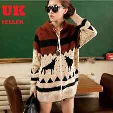 Warm Fluffy Dress Long Jumper Sweater Cardigan J7261