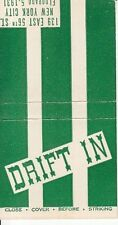 Drift In 139 East 56th St. Cocktails New York City NYC Old Matchcover