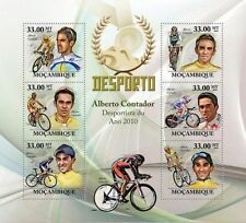 MOZAMBIQUE CYCLING ALBERTO CONTADOR CYCLE BICYCLE S/S MNH C10 MOZ10226A u