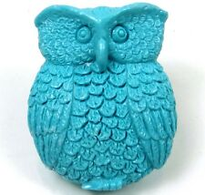 42mm Owl Blue Turquoise Pendant Bead