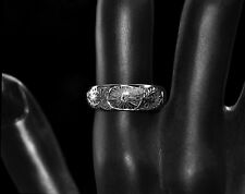 Gift from EMPEROR of JAPAN Engraved Platinum Diamond Band RING size 9.4