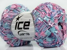 Triplets Butterfly Ribbon Yarn - Blue, Pink, Lilac Ice 50gr 164yds 42098