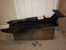 Vintage Twin Hull Wood Hydro Boat,New Picco P67 11cc Nitro Gas Engine,Dumas