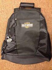 Harley Davidson Laptop Travel Back Pack Backpack Black Bar & Shield Logo