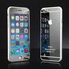Front+Back Silver Mirror Tempered Glass Case Screen Protector for iPhone 6/6S