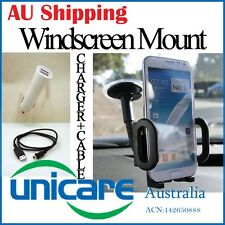 Universal Windscreen Stand + Mini USB Cable + Dual Charger for GPS Mobile Phone