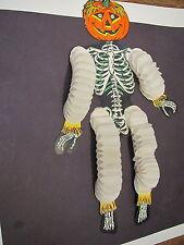 1940-50's Beistle halloween diecut/accordian tissue paper pumpkin skeleton-USA
