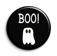 Boo! Cute Retro Ghost Halloween 38mm/1.5 inch Funny Novelty Button Pin Badge