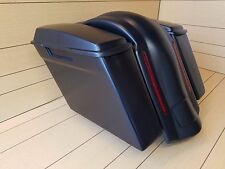 "HARLEY DAVIDSON 4""SADDLEBAGS NO CUT OUTS,LIDS & REAR LED FENDER INCLUDED"