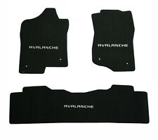 NEW! Black Floor Mats 2007-2010  Chevy Avalanche with embroidered logo set of 3