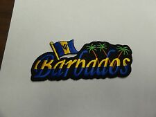PATCH COUNTRY FLAG SEW ON JACKET SHORT OR PANTS BARBADOS