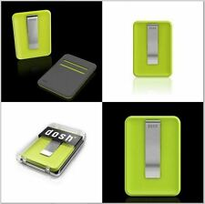 Dosh Blade Front Pocket Card Case Stainless Steel Money Clip Wallet Green Wasabi