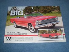 """1966 Ford Galaxie 500 7-Litre Convertible Article """"Going Big"""" 427 SOHC"""