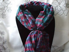 Scarf + Scarf Ring Gift Set Bubble Multi Butterfly + Black Scarf Ring + Gift Bag