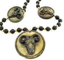 Ram Head Mardi Gras Bead Necklace New Orleans Party Dramatic Bold Dodge Ram LA
