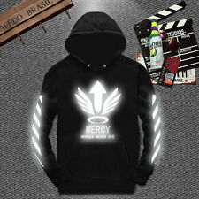 Game Overwatch Mercy Reflective Pullover Unisex Sweater Hoodie Coat Clothing New