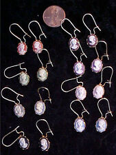 LOT of 8 Pair Beautiful Vintage - New Cameo Earrings!
