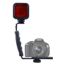 36IR LED Infrared Light+L-Shaped Bracket Handle Grip Stabilizer For DSLR Ca