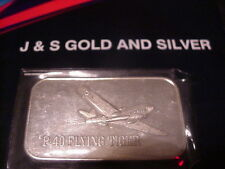 P-40 FLYING TIGER  MARK IV SILVER BAR .999+ FINE ONE TROY OUNCE AIRPLANE  J&S