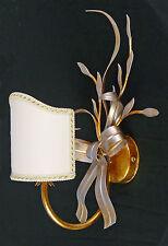 APPLIQUE LAMPADA FOGLIA ORO E ARGENTO FATTO A MANO PARALUME VENTOLINA ART.581
