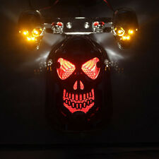 Skull Head Motorcycle/bike Quad ATV Turn signal Brake Rear Tail Light For Harley