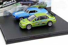 2-Car Set Chevrolet Yenko Camaro und Mitsubishi Lancer Fast and Furious 1:43 Gre