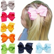 "20pcs 3"" Hair Bows Boutique Girls Baby Grosgrain Ribbon Alligator Clip Mixed US"