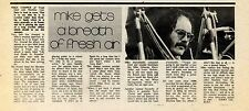 (Sds)30/3/1974Pg14 Article & Picture, Mike Cooper Of Trout, Steel & Machine Gun