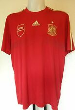 "SPAIN FOOTBALL HOME TEE"" INIESTA"" NO. 6 BY ADIDAS SIZE XXL BRAND NEW WITH TAGS"