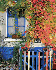Painting by Number Kit Late Autumn Vine Climbing The Wall House Window BB7009