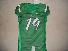 Wilson Pro Fusion Game Cut Football Jersey Abbott School #19 Green White So C@@L