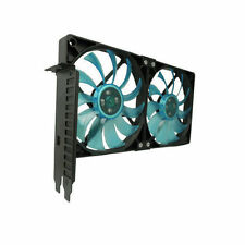 Gelid PCI-02 PCI Slot Black Fan Holder includes 2x120mm UV Blue Fan