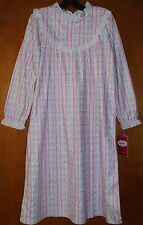 NWT Lanz of Salzburg Girls Tyrolean Flannel Nightgown Size Medium 7/8 Pink Heart