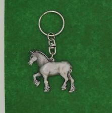 English Pewter Handcrafted Shire Horse Keyring NEW Made in UK 20782