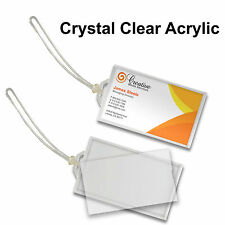 Luggage Tag Snap-in Business Card Crystal Clear Acrylic  #LT70-Clear#