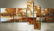 H0194  NO Frame/Large Set(5PCS) Modern Abstract Oil Painting Wall Deco canvas